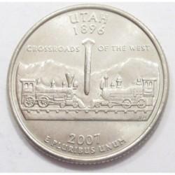 quarter dollar 2007 P - Utah