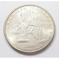 quarter dollar 2001 P - New York
