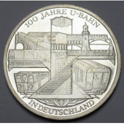10 euro 2002 D PP - 100 years the german metro