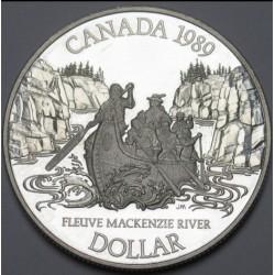 1 dollar 1989 PP - MacKenzie river