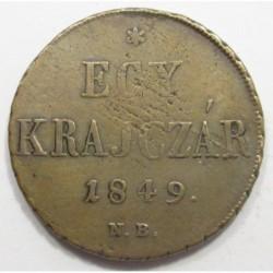 1 kreuzer 1849