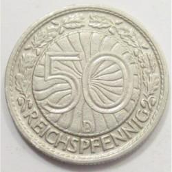 50 reichspfennig 1928 D