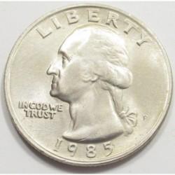 quarter dollar 1985 P