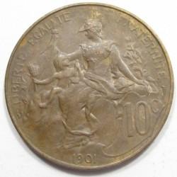 10 centimes 1901