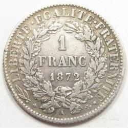 1 franc 1872 A