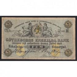 5 riksdaler 1868 - Göteborg