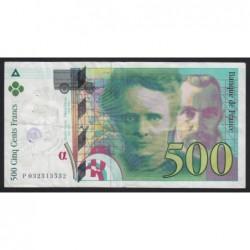 500 francs 1995
