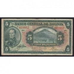 5 bolivianos 1928