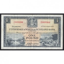 1 pound 1956 - Clydesdale and North of Scotland Bank Limited