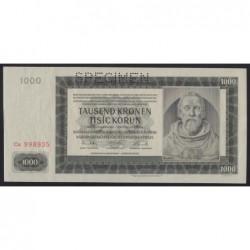 1000 korun 1942 - SPECIMEN