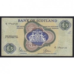 5 pounds 1969 - Bank of Scotland
