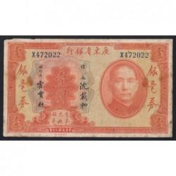 1 dollar 1931 - Kwangtung Provincial Bank
