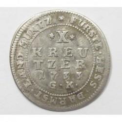 10 kreuzer 1733 - Hessen
