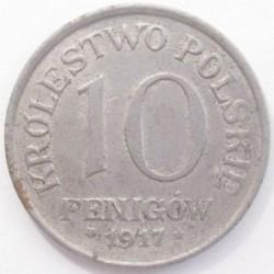 10 fenigow 1917 F