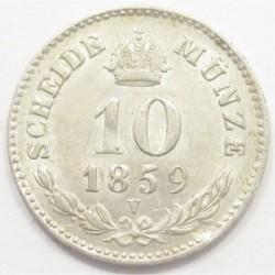 10 kreuzer 1859 V