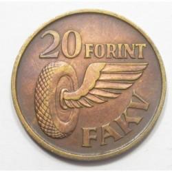 20 forint  1949-1968 - City Bus Municipal Company Badge