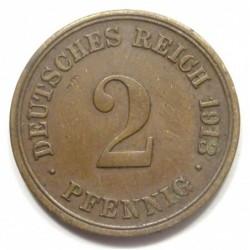 2 pfennig 1913 F