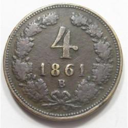 4 kreuzer 1861 B