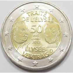 2 euro 2013 D - Élysée Treaty