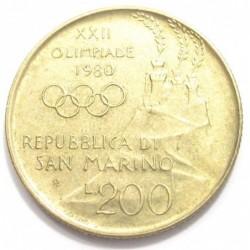 200 lire 1980 - Wrestling