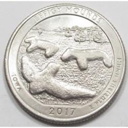 quarter dollar 2017 P - Effigy Mounds