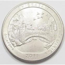 quarter dollar 2011 D - Chickasaw