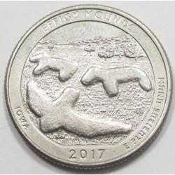quarter dollar 2017 D - Effigy Mounds