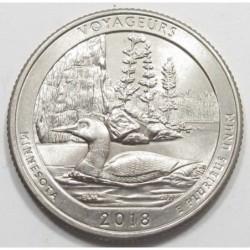 quarter dollar 2018 P - Voyageurs