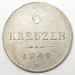 6 kreuzer 1849 A