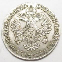 Franz I. 3 kreuzer 1829 A
