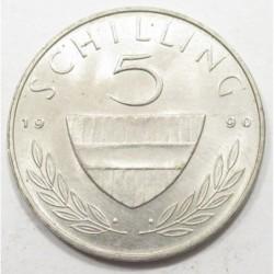 5 schilling 1990