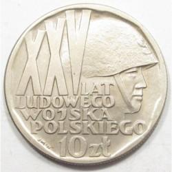 10 zlotych 1968 - Lpolish army