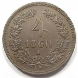 4 kreuzer 1860 A