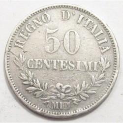 50 centesimi 1863 M BN