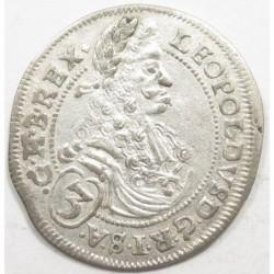 Leopold I 3 kreuzer 1697 CH - Pozsony