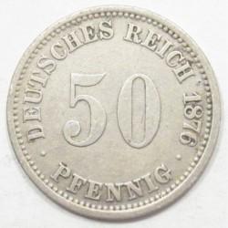 50 pfennig 1876 A
