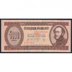 5000 forint 1990 J