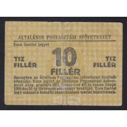 10 fillér 1920 - Általános Fogyasztási Szövetkezet