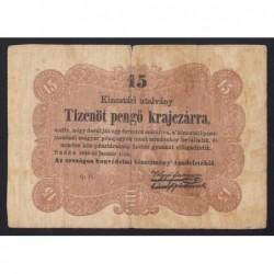 15 pengő krajczárra 1849