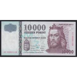 10000 forint 1999 AE - alacsony sorszám