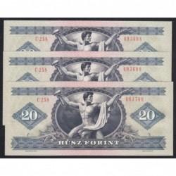 20 forint 1980 - 3 db sorszámkövetõ
