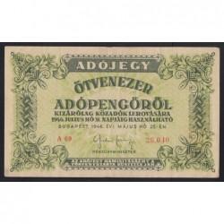 50000 adópengő 1946 - sorszámos