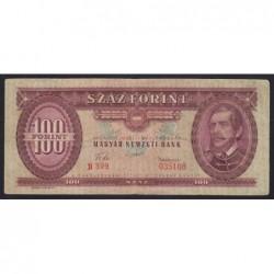 100 forint 1957