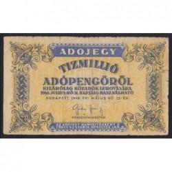 10.000.000 adópengõ 1946 - FORDÍTOTT CÍMER
