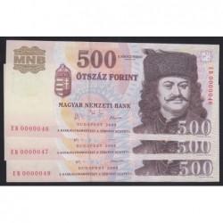 500 forint 2003 EB - Alacsony sorszámú sorszámkövetõ