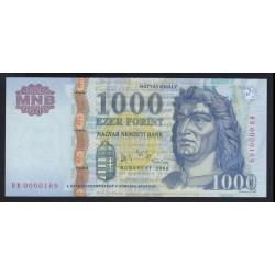 1000 forint 2006 DB - Alacsony sorszám