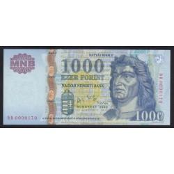 1000 forint 2005 DB - Alacsony sorszámú