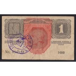 1 kronen/korona 1919 - Eszék