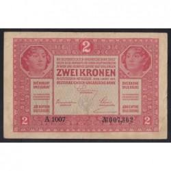 2 kronen/korona 1917 - A sorozatszám