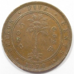 5 cents 1870